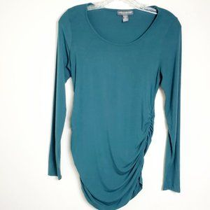 A Pea in the Pod Long Sleeve Side Ruched Top S XS